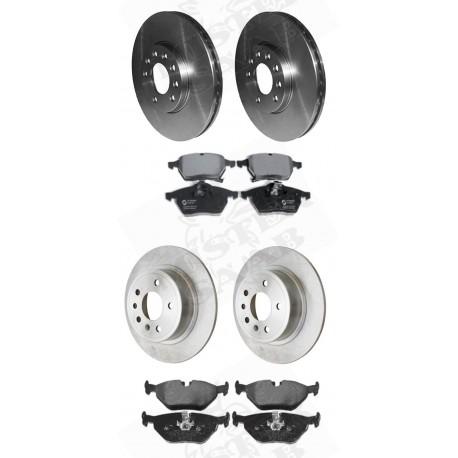 kit disques + plaquettes frein avant et arrière Saab 9.5