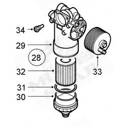 cloche ou couvercle filtre à huile saab 9.5 v6 3.0L TID