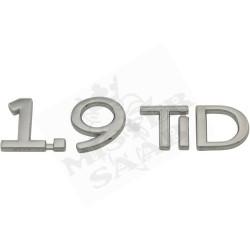 "Inscription arrière ""1.9TID"" Saab 9.3v2"