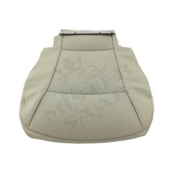 housse assise Saab 9.3v2 beige cuir/tissu